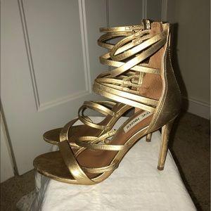 Steve Madden gold heel